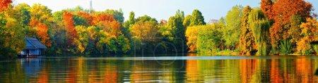 Photo pour Paysage d'automne, vue panoramique - image libre de droit