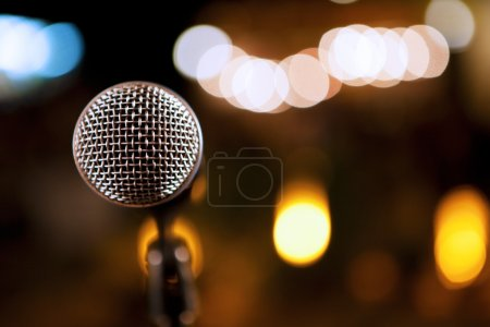 Microphone detail background