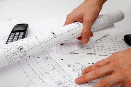 Blueprint and architect
