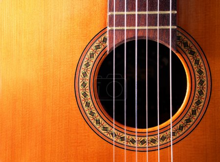 Photo for Close up image of spanish guitar with copyspace - Royalty Free Image
