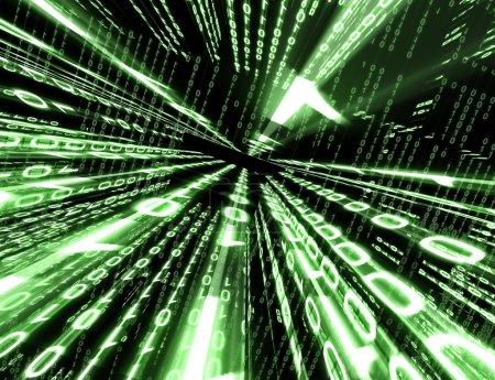 Photo pour Fond technologique abstrait avec code binaire - image libre de droit