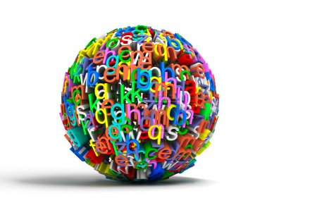 Colored ball letters