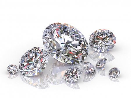 Photo for Group of diamonds isolated on white background - Royalty Free Image