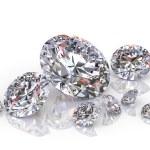 Group of diamonds isolated on white background...
