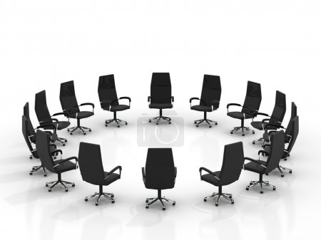 Chairs arranging round large group