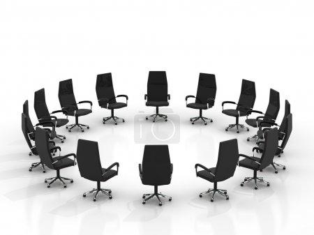 chaises arrangeant rond grand groupe