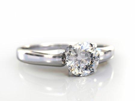 Diamond Ring wedding gift isolated