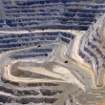 Close-up of Copper Mine Open Pit Excavation...