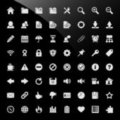 A big set of icons for content management system software application and web development