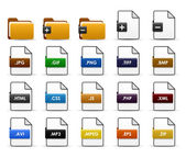 A set of file types and folders