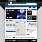 A set of web design template that consists of all essential elements