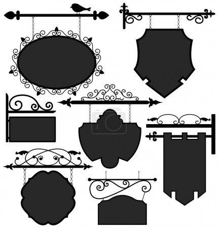 Illustration for A set of ornament signage. - Royalty Free Image