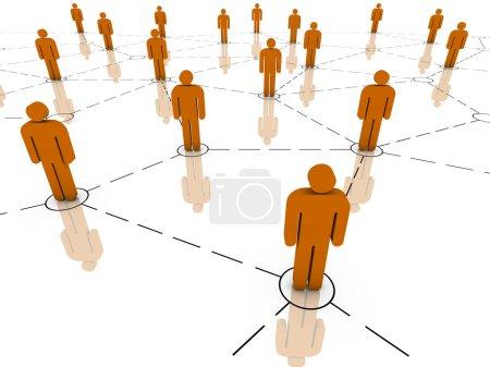 Photo pour Globales communications, travail d'équipe, organisation de l'entreprise et des concepts de groupe organisé. partie d'une série. - image libre de droit