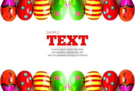 Photo pour Cadre en maracus coloré avec zone de copyspace pour la publicité ou l'utilisation de conception - image libre de droit
