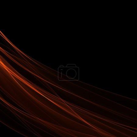 Photo pour Fracture générée par ordinateur orange sur fond noir - image libre de droit