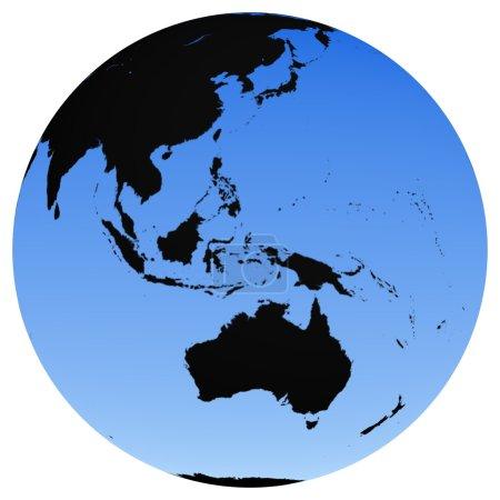 Photo pour Globe terrestre - Océanie - image libre de droit
