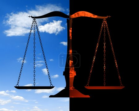 Photo for The balance between the good and bad - Royalty Free Image