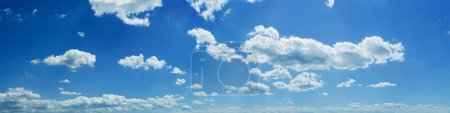 Photo for Wide sky panorama with scattered cumulus clouds - Royalty Free Image