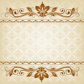 vector vintage floral background with decorative flowers for design