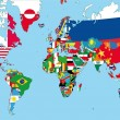 The world map with all states and their flags...