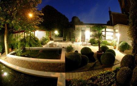 Lightened garden