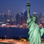 Panorama of New York city...