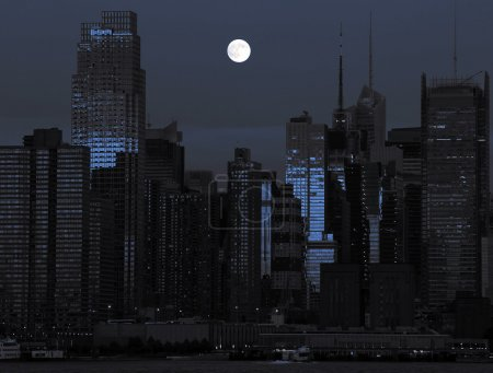 Photo new york cityscape in black and blue