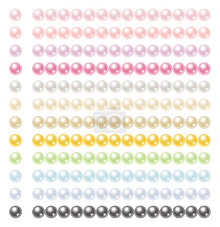 Set of colorful pearls 12 colors