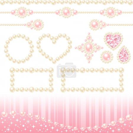 Photo pour Jeu de perles collier décoratif, sur fond blanc - image libre de droit