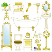 Vector illustration of bathroom and washroom
