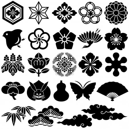 Japanese traditional design. Vector illustration....