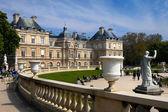 Lucembursko palác a zahrady v Paříži. Francie