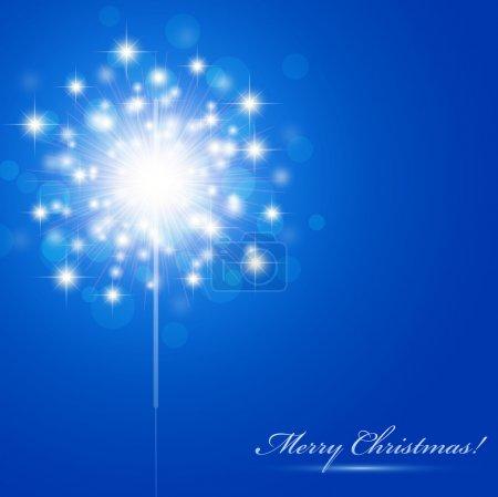Illustration pour Thème de Noël avec scintillement et copyspace - image libre de droit