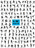 Big collection of high quality sports silhouettes - vector