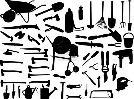 Illustration for Tools collection - vector - Royalty Free Image