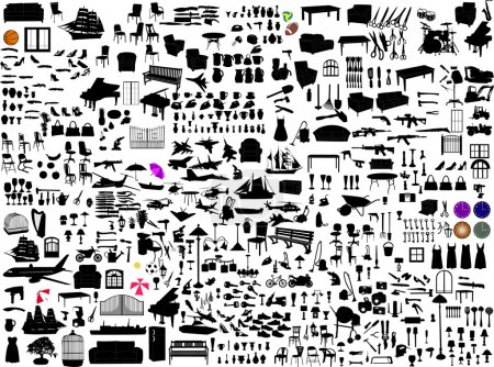 Illustration for Miscellaneous objects collection - vector - Royalty Free Image