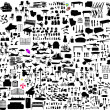 Miscellaneous objects collection - vector...