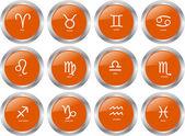 Zodiac button collection - vector