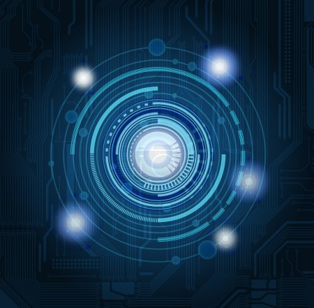 Illustration for Abstract technology theme vector background with highly detailed circuit pattern. Eps 10 - Royalty Free Image