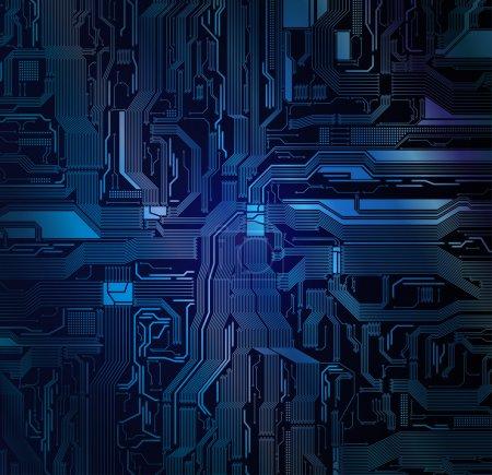Illustration pour Vecteur de circuit détaillé. Eps10 - image libre de droit