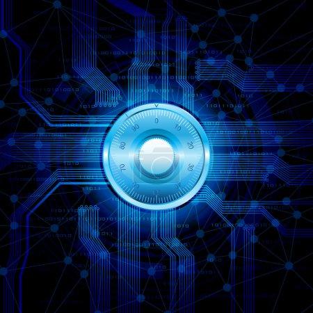 Illustration pour Illustration vectorielle conceptuelle, sécurité dans le thème Internet. eps10 - image libre de droit