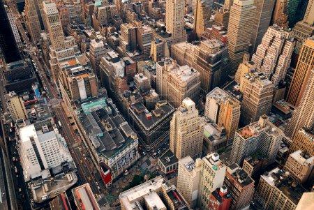 New York City street aerial view