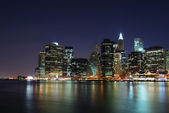 Manhattan at night in New York City