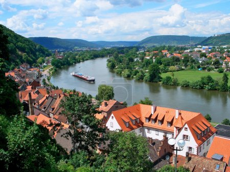 Old Town and Main River in Miltenberg...