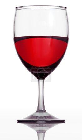 Red wine glass.