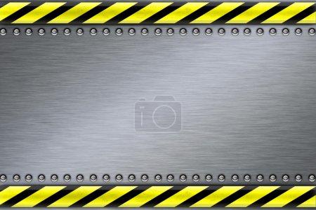 Photo pour Rivets en arrière-plan en acier texturé - image libre de droit