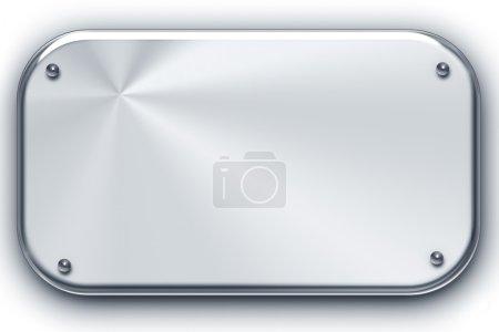 Photo pour Fond en acier brossé isolé sur blanc. Espace de copie - image libre de droit