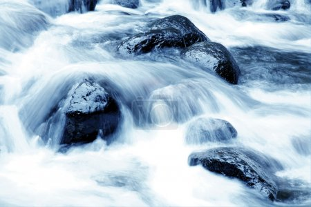 Stream flowing fast over rocks...