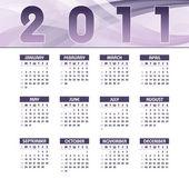 2011 Calendar Vector Illustration