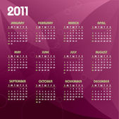 2011 Calendar Vector Illustration